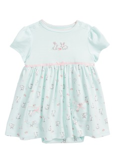Little Me Bunnies Skirted Bodysuit (Baby Girls)