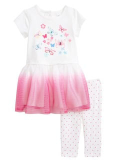 Little Me Butterfly Dress & Leggings Set (Baby Girls)