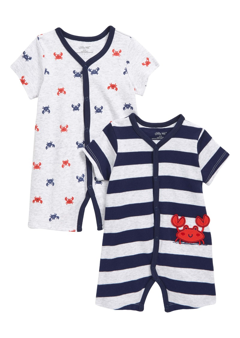 Little Me Crab 2-Pack Rompers (Baby)