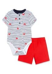 Little Me Crab Bodysuit & Shorts Set (Baby)