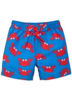 Little Me Crab-Print Swim Trunks, Baby Boys