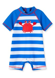 Little Me Crab Rashguard Swimsuit (Baby)