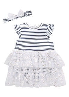 Little Me Daisy Shine Floral Tutu Dress & Headband Set (Baby)