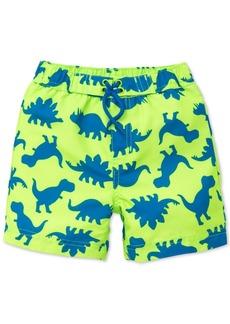 Little Me Dino-Print Swim Trunks, Baby Boys
