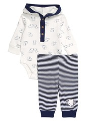 Little Me Elephant Hooded Bodysuit & Pants Set (Baby)
