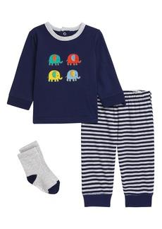Little Me Elephant T-Shirt, Joggers & Socks Set (Baby)