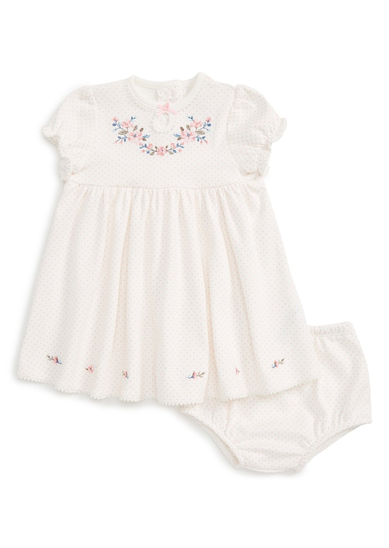 Little Me Embroidered Dress (Baby Girls)