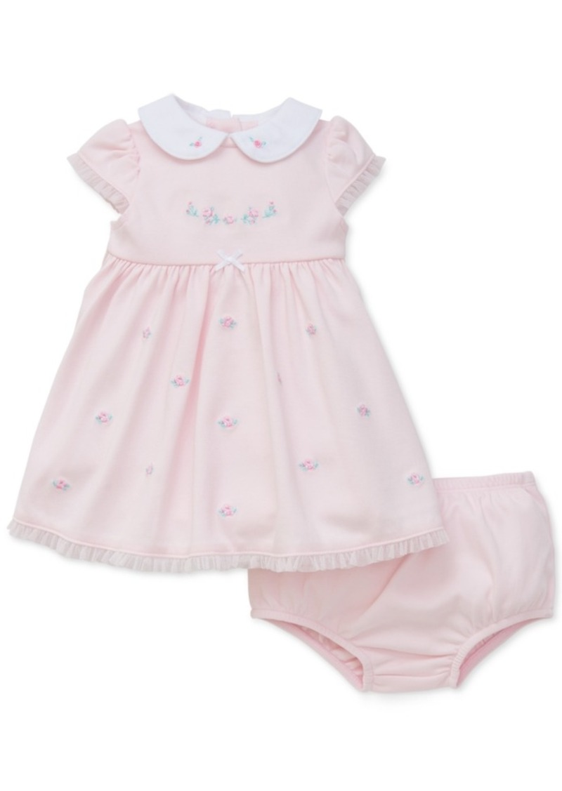 Little Me Embroidered Rose Dress, Baby Girls (0-24 months)