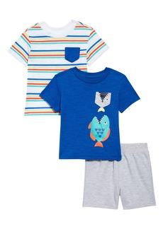 Little Me Fish T-Shirts & Shorts Set (Baby)