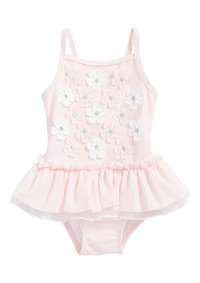 5b927c4139 Little Me Little Me Floral Appliqué One-Piece Swimsuit (Baby Girls)