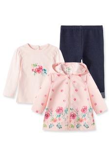 Little Me Floral Jacket, T-Shirt & Jeggings Set (Baby)