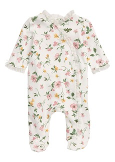 Little Me Floral Print Footie (Baby)