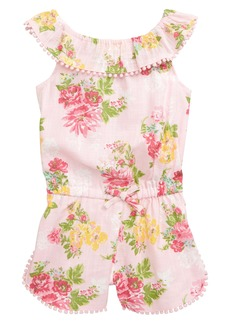 Little Me Floral Print Woven Romper (Baby)