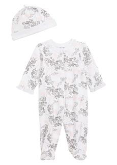 Little Me Floral Spray Footie & Hat Set (Baby)