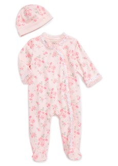 Little Me Footie & Beanie Set (Baby Girls)