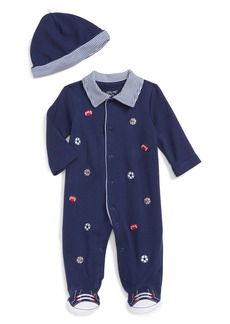 Little Me Footie & Hat Set (Baby Boys)