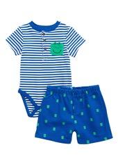 Little Me Frog Bodysuit & Shorts Set (Baby)