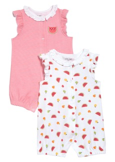 Little Me Fruit 2-Pack Rompers (Baby)
