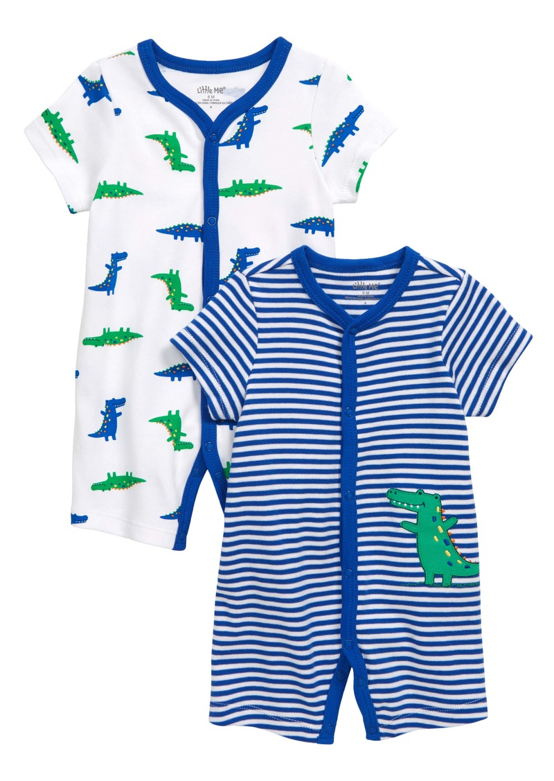 Little Me Gator 2-Pack Rompers (Baby)
