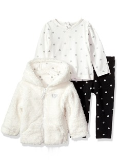 Little Me Girls' 3 Piece Hoodie Set  24M