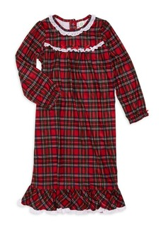 Little Me Girl's Plaid Nightgown