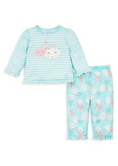 Little Me Girl's Two-Piece Cloud Pajama Set