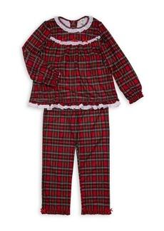 Little Me Girl's Two-Piece Plaid Pajama Set