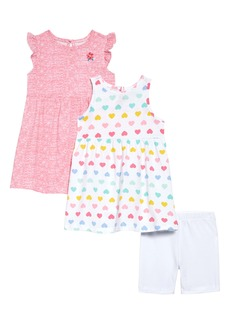 Little Me Heart Knit Dresses & Shorts Set (Baby)