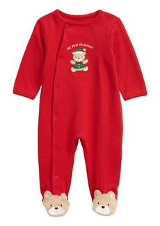 Little Me Holiday Bear Footie (Baby)