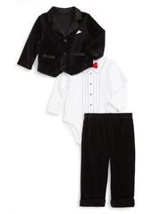 Little Me Jacket, Bodysuit, Pants & Hat Set (Baby Boys)