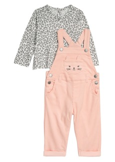 Little Me Kitty T-Shirt & Overalls Set (Baby)
