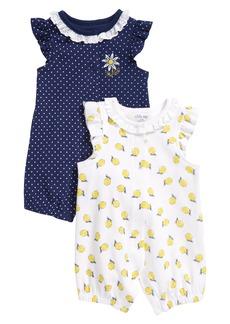 Little Me Lemon 2-Pack Rompers (Baby)