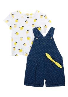 Little Me Lemon T-Shirt & Shortalls Set (Baby)