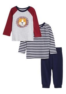 Little Me Lion Set of 2 Long Sleeve T-Shirts & Pants Set (Baby)