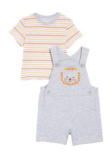 Little Me Lion T-Shirt & Shortalls Set (Baby)