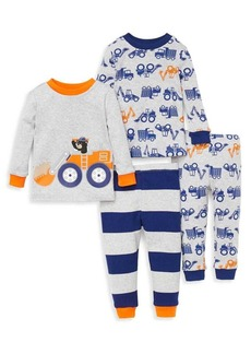 Little Me Little Boy's Four-Piece Construction Pajama Set