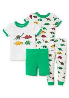Little Me Little Boy's Four-Piece Dino Pajama Set