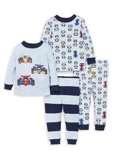 Little Me Little Boy's Four-Piece Race Pajama Set