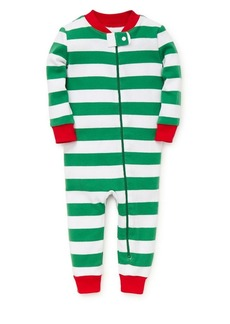 Little Me Little Boy's Striped Cotton Coveralls