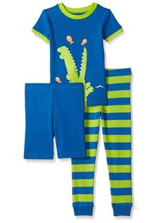 Little Me Little Boys' Toddler 3 Piece Cotton Pajamas