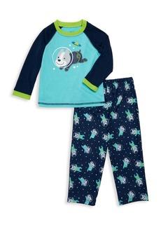 Little Me Little Boy's Two-Piece Space Dogs Pajama Top & Pants Set