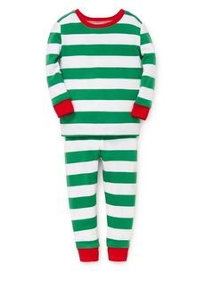 Little Me Little Boy's Two-Piece Striped Pajama Top & Pants Set