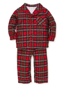 Little Me Little Boy's Two-Piece Tartan Plaid Pajama Top & Pants Set