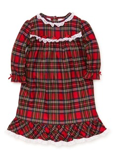 Little Me Little Girl's Plaid Nightgown