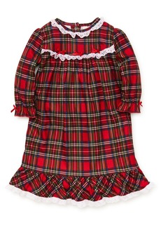 Little Me Little Girl's Plaid Ruffled Nightgown