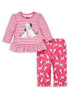 Little Me Little Girl's Two-Piece Dalmation Printed Pajama Set