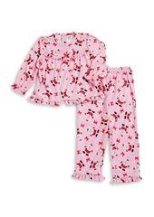 Little Me Little Girl's Two-Piece Santa Pajama Set