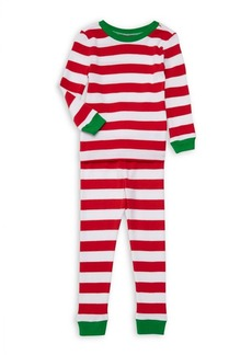 Little Me Little Kid's Two-Piece Holiday Striped PJ Set