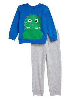 Little Me Monster Sweatshirt & Pants Set (Baby)