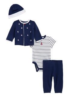 Little Me Nautical Bodysuit, Pants, Jacket & Hat Set (Baby Boys)
